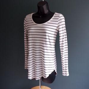 BP Nordstrom long sleeve  white & navy striped top